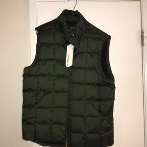 J.crew Olive green quilted vest